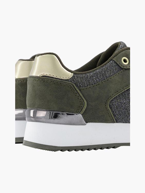 Groene sneaker glitter