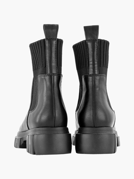 Zwarte chelsea boot sok