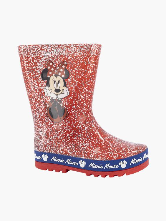 Rode Minnie Mouse regenlaars