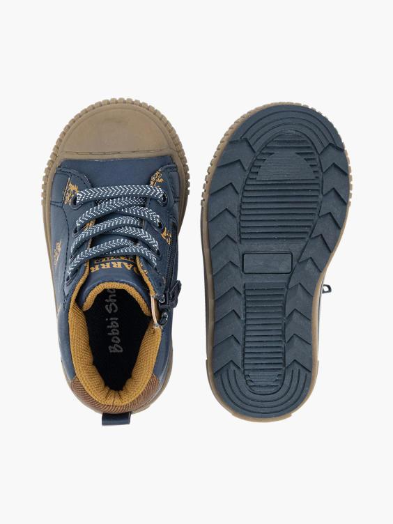 Marine blauwe hoge sneaker