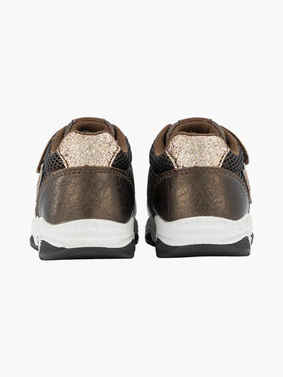 Bronze chunky sneaker metallic glitter