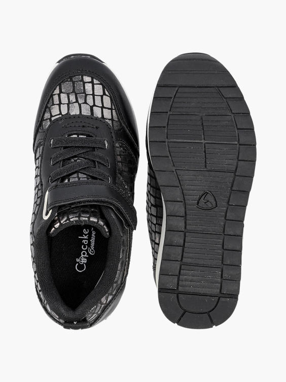 Zwarte sneaker croco