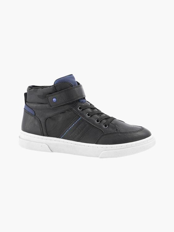 Zwarte hoge sneaker