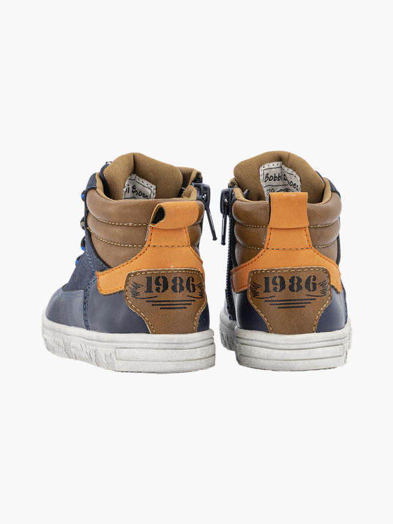 Blauwe hoge sneaker