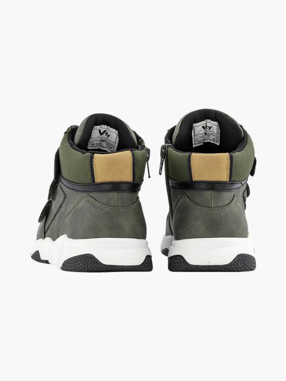 Groene hoge sneaker klittenband