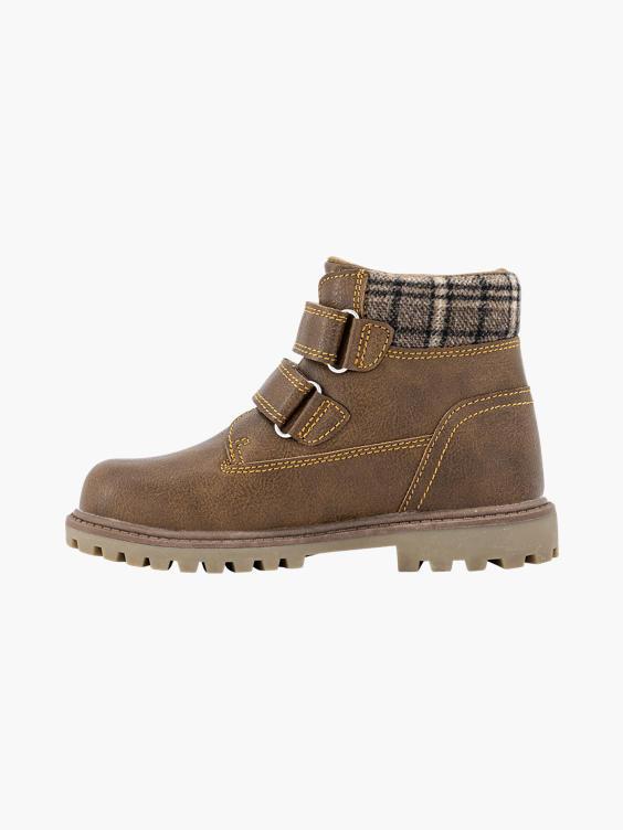 Bruine boot klittenband