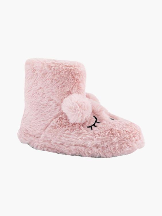 Roze halfhoge pantoffel warm gevoerd