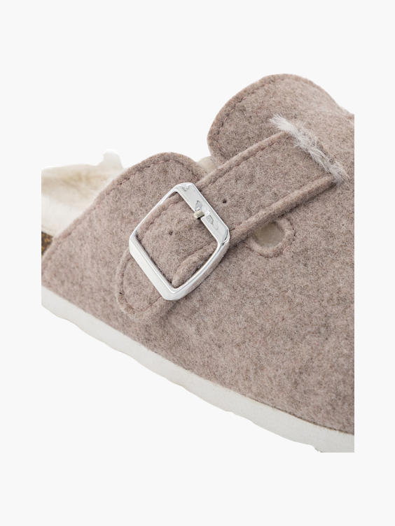 Roze instap pantoffel warm gevoerd