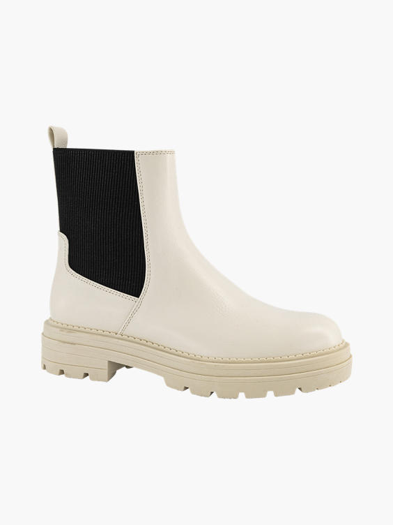 Offwhite chelsea boot knitting textiel