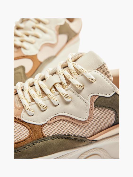 Multicolor chunky sneaker goud