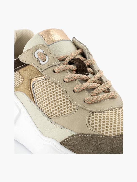 Bruine leren sneaker