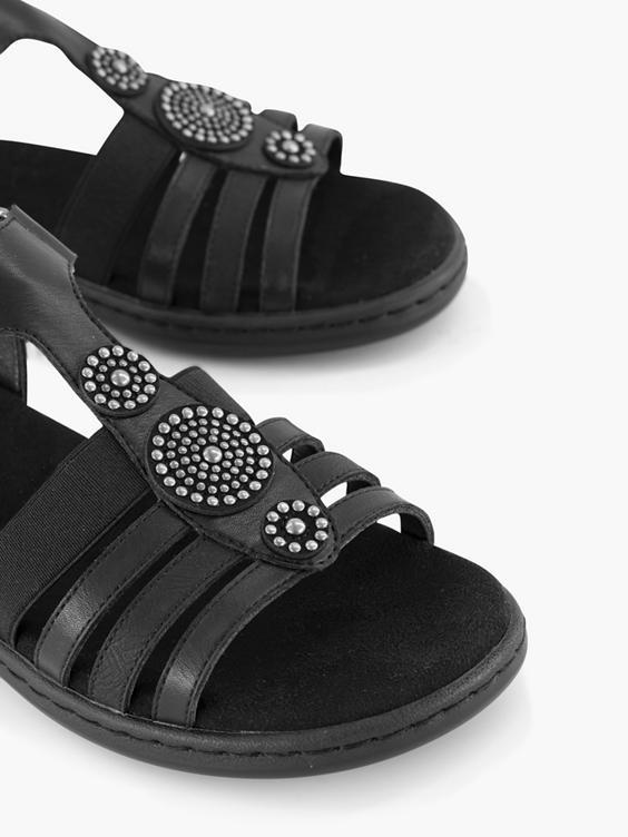Zwarte sandaal klittenband