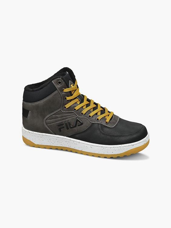 Donkergrijze hoge sneaker