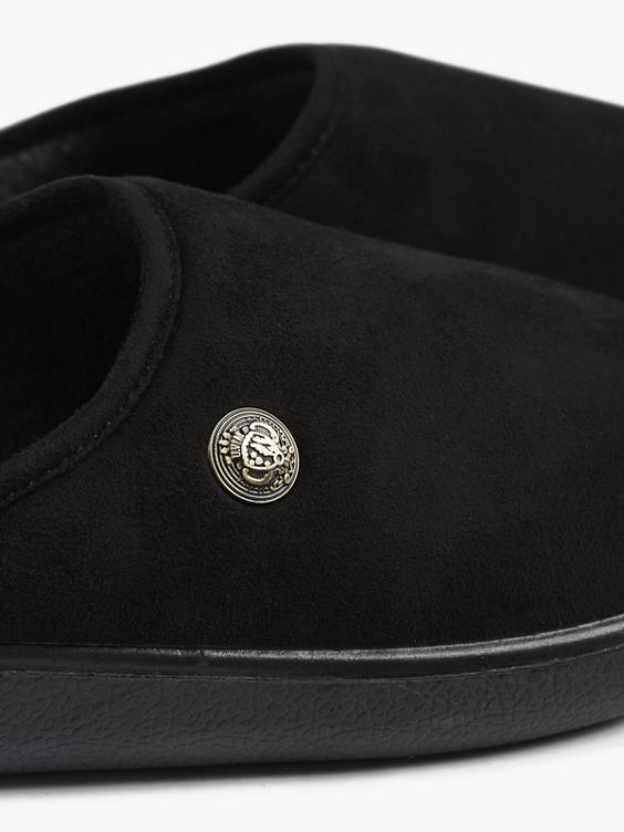 Zwarte instap pantoffel