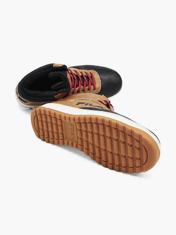 Bruine halfhoge sneaker