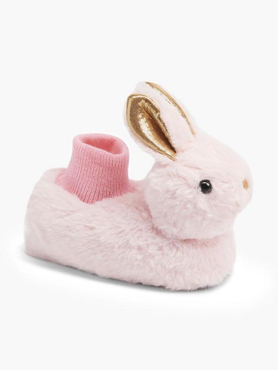 Roze konijn pantoffel