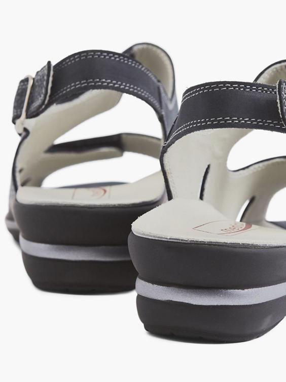 Donkerblauwe sandaal klittenband