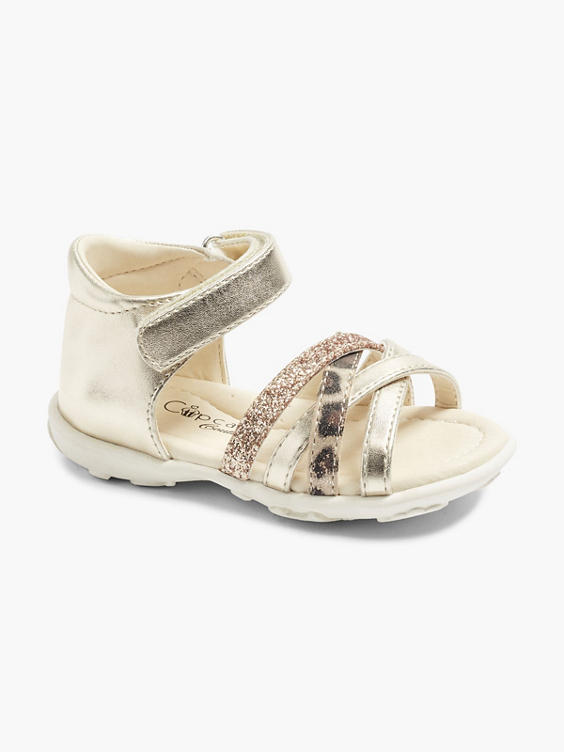 Gouden sandaal glitter