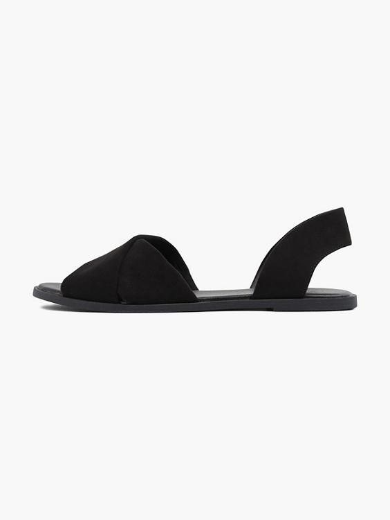 Zwarte sandaal