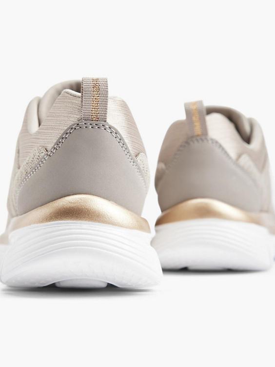 Taupe sneaker memory foam