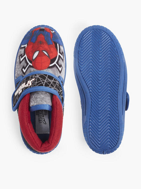 Blauwe Spiderman pantoffel