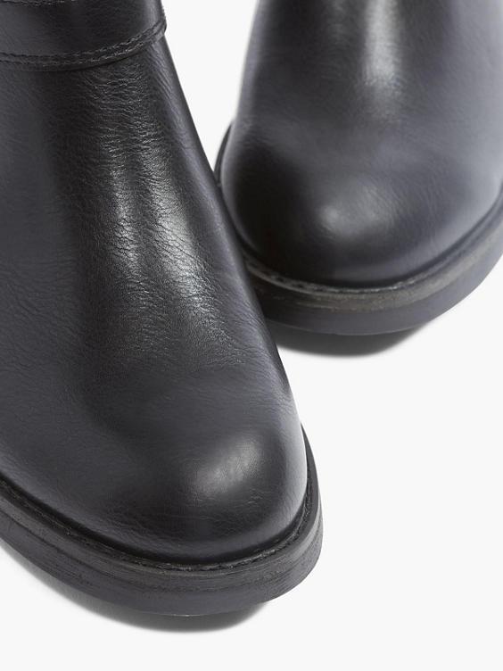 Zwarte enkellaars gespen