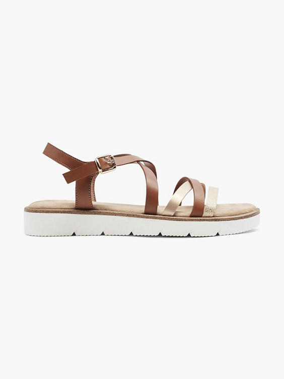Bruine sandaal