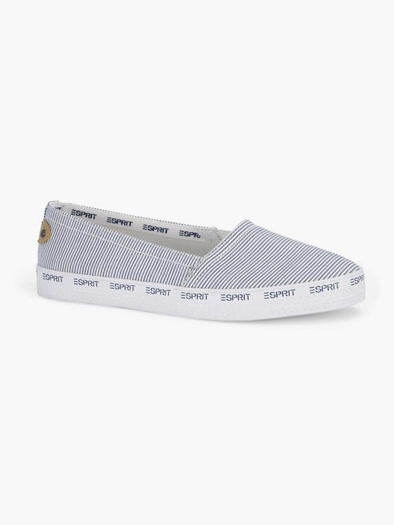 Witte loafer strepenprint