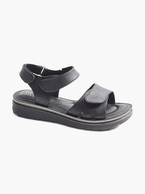 Zwarte platform sandaal