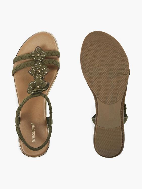 Groene sandaal studs
