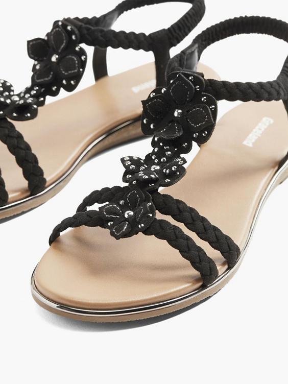 Zwarte sandaal studs