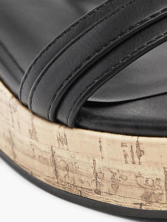 Zwarte sandalette