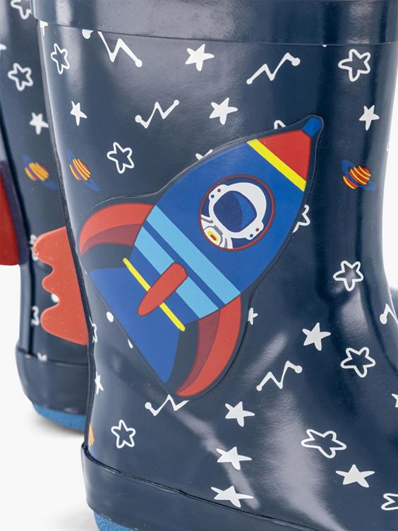 Donkerblauwe raket regenlaars