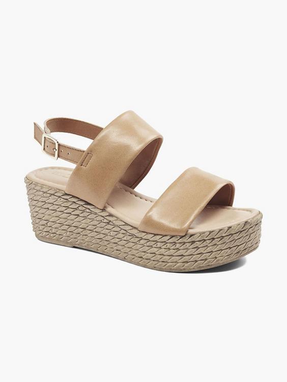 Witte leren sandalette