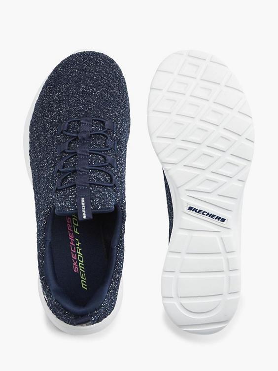 Blauwe slip-on sneaker memory foam