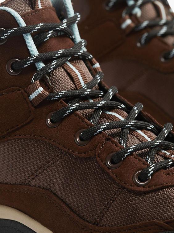 Bruine hoge wandelschoen