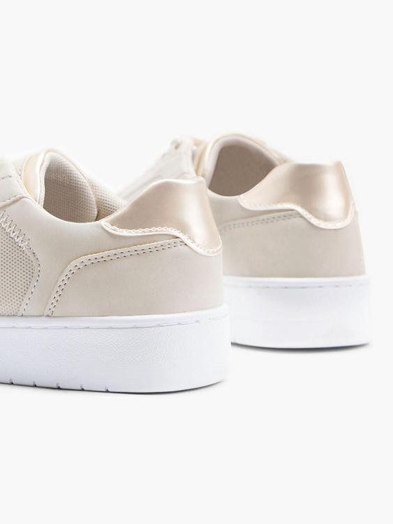 Beige sneaker metallic