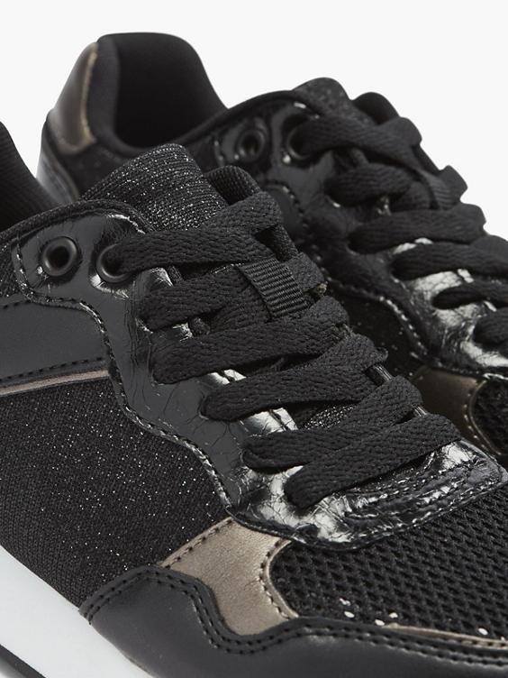 Zwarte sneaker glitter