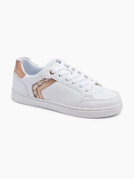 Witte sneaker glitter