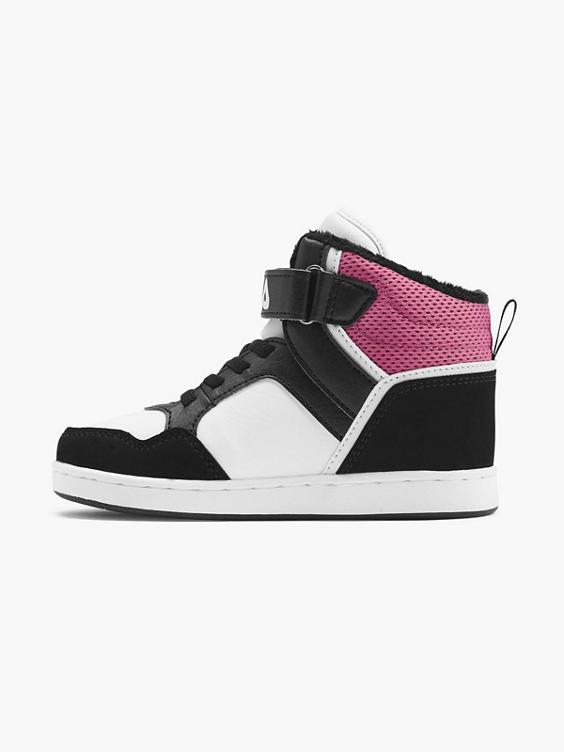 Zwarte halfhoge sneaker