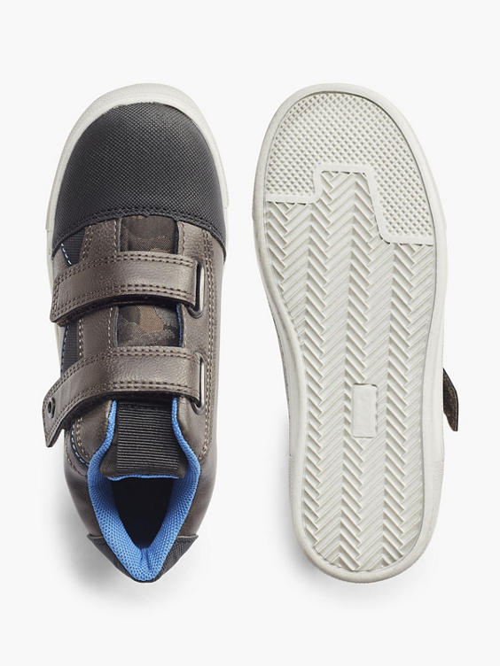 Donkerbruine sneaker klittenband