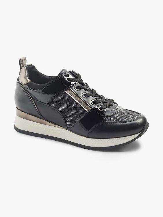 Zwarte sneaker metallic