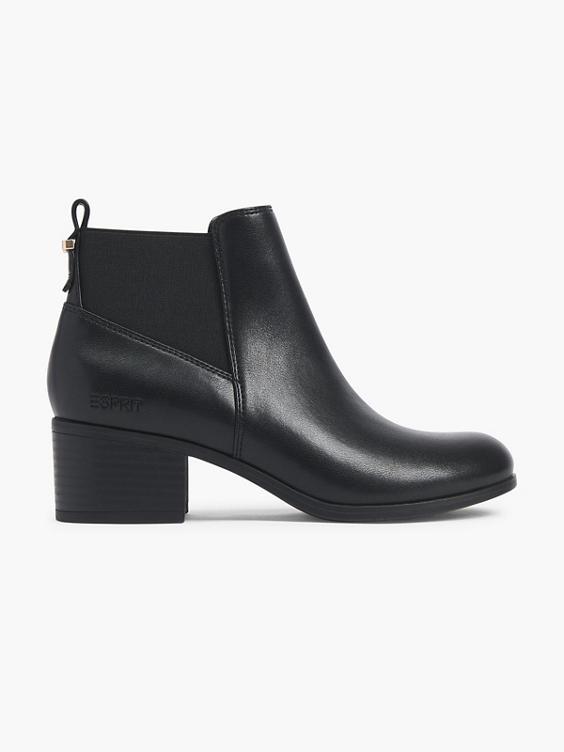 Zwarte enkellaars elastiek