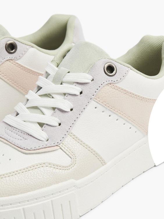 Multicolor sneaker perforatie