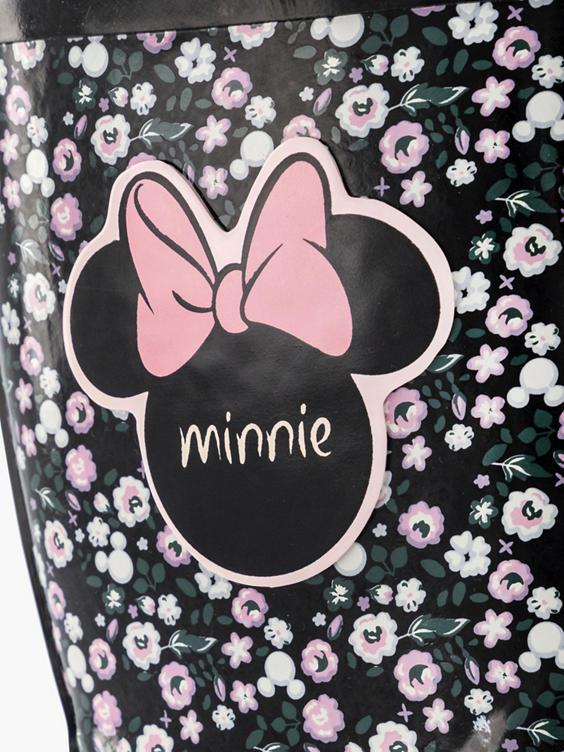 Zwarte Minnie Mouse regenlaars