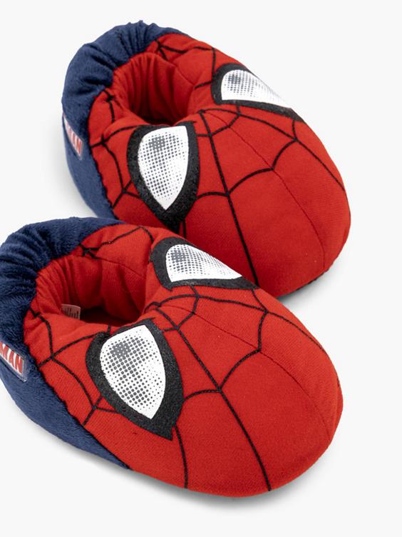 Rode Spiderman pantoffel