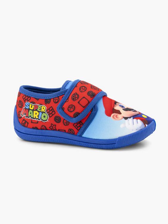 Blauwe Super Mario pantoffel