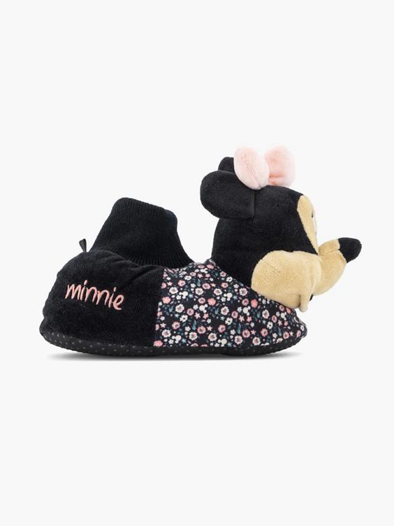 Zwarte Mini Mouse pantoffel