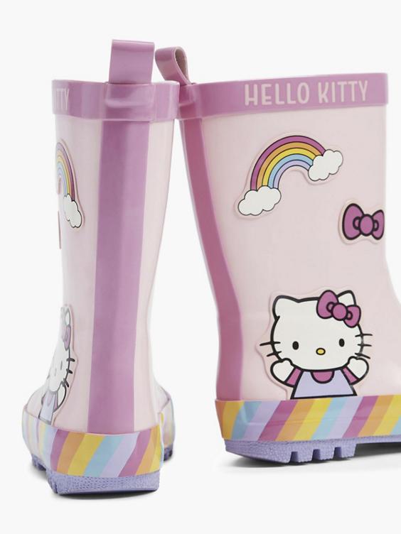 Lichtroze Hello Kitty regenlaars