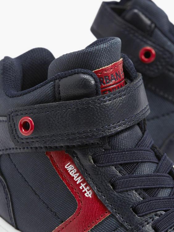 Donkerblauwe hoge sneaker